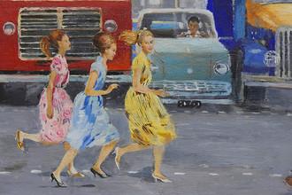 Юрий Пименов. Бегом через улицу. 1963