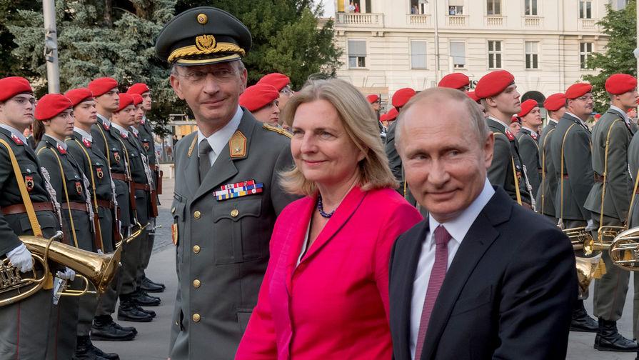 СМИ: свадьбу главы МИД Австрии отложили из-за Путина