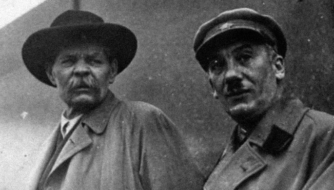 М. Горький и Г. Ягода, 1935 год