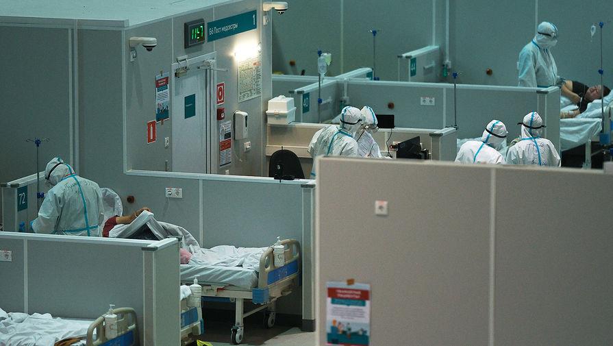 Временный госпиталь для пациентов с COVID-19 в Сокольниках