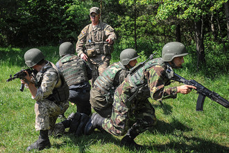 Совместные военные учения Украины и США подо Львовом
