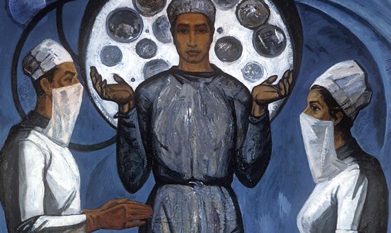 Фрагмент картины художника Амана Амангельдыева «Хирурги»