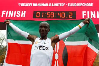 Кенийский легкоатлет Элиуд Кипчоге