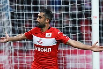 Александр Самедов забил победный мяч в матче против «Анжи», этот гол стал для него первым в официальном матче после возвращения в «Спартак»