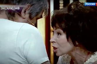Кадр из передачи «Привет, Андрей!» с участием Бари Алибасова и Марины Хлебниковой, 22 июня 2019 года