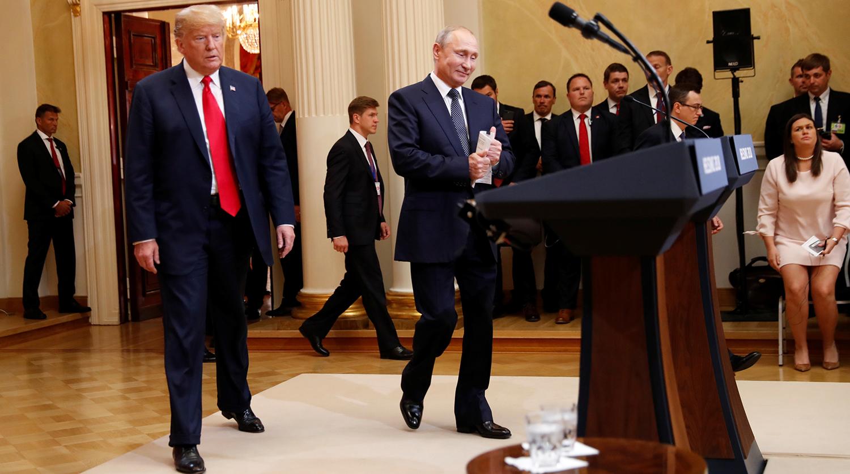 Пресс-конференция Дональда Трампа и Владимира Путина