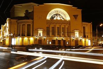 Здание Государственного академического театра драмы имен Волкова в Ярославле, март 2019 года