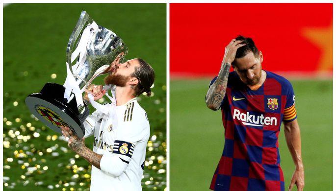 Серхио Рамос («Реал») и Лионель Месси («Барселона»)