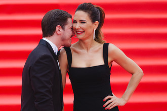 Екатерина Климова и ее супруг актер Гела Месхи на закрытии 39-го Московского международного кинофестиваля, 2017 год