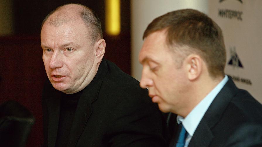 Владимир Потанин и Олег Дерипаска, 2008 год