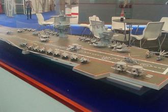 Макет авианосца проекта «Шторм» на выставке «Армия 2015»