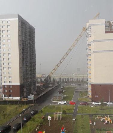 Последствия падения башенного крана на жилой дом в Казани, 26 июня 2018 года