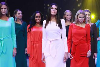 Участницы конкурса красоты «Мисс Москва 2018». В центре: Алеся Семеренко