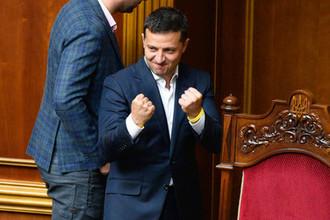Президент Украины Владимир Зеленский во время заседания Верховной рады в Киеве, 5 сентября 2019 года