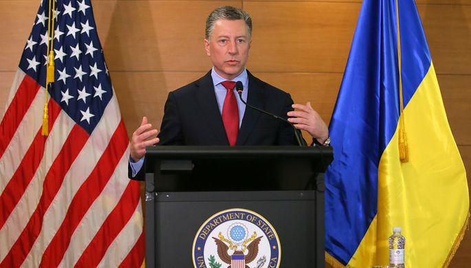 Спецпредставитель Государственного департамента США по вопросам Украины Курт Волкер во время брифинга в Киеве, июль 2019 года