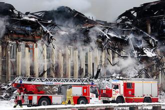 Во время тушения пожара в здании библиотеки академического Института научной информации по общественным наукам