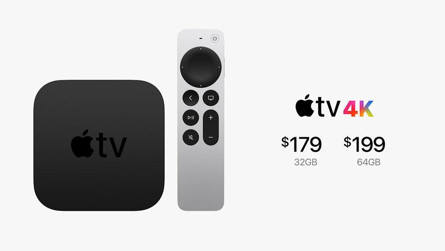 Новое поколение Apple TV 4K во время весенней презентации Apple, 20 апреля 2021 года