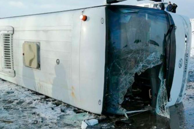 Последствия ДТП под Ульяновском, в котором пострадали дети из футбольной команды «Нефтяник», 29 февраля 2020 года