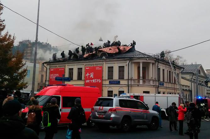 Возгорание в в отделе личных коллекций Пушкинского музея на улице Волхонка, 3 ноября 2017 года