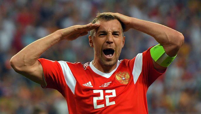 Нападающий сборной России Артем Дзюба