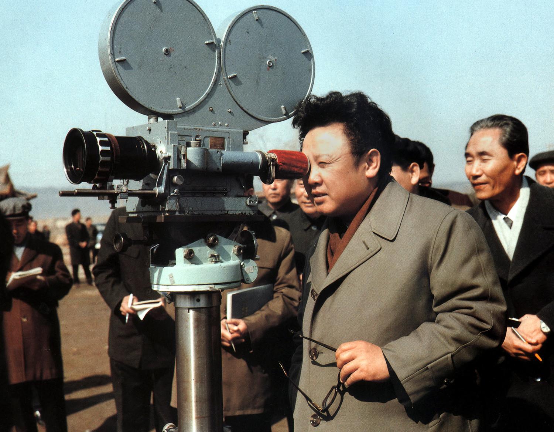 Ким Чен Ир на съемках документального фильма, 1979 год