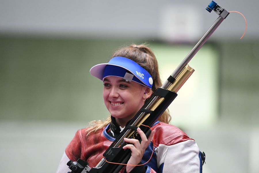 Анастасия Галашина, стрельба изпневматической винтовки