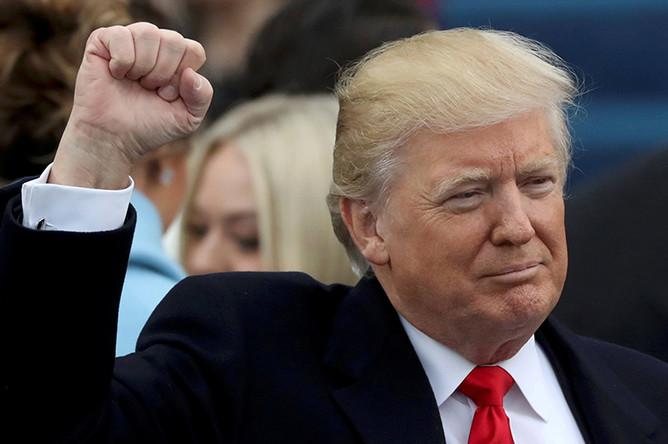 45-й президент США Дональд Трамп, 20 января 2017 года