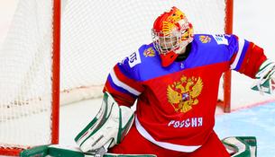 Вратарь юниорской сборной России по хоккею