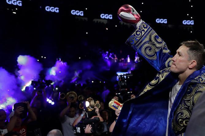 Матч между боксерами Геннадием Головкиным из Казахстана и Саулем Альваресом из Мексики, 15 сентября 2018 год