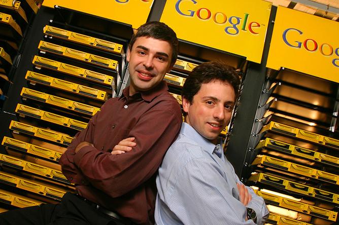 <b>Google</b> — Ларри Пейдж и Сергей Брин, студенты Стэнфорда