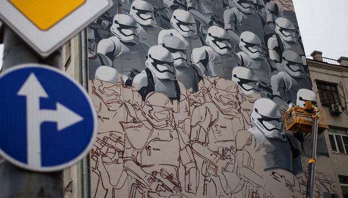 Граффити со штурмовиками из саги «Звездные войны» в центре Москвы, 2015 год