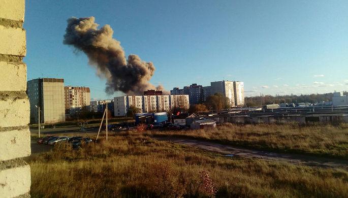 Последствия взрыва в Гатчине под Санкт-Петербургом, 19 октября 2018 года