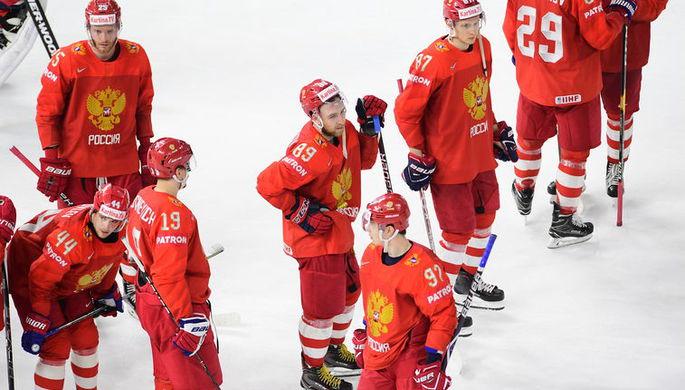 Игроки сборной России после матча с командой Швеции