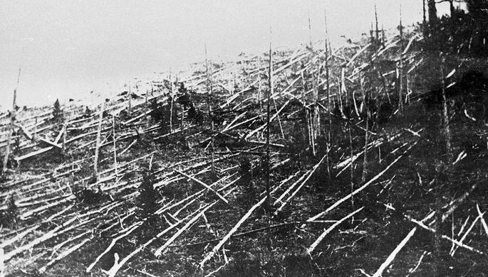 В районе падения Тунгусского метеорита, 1927 год