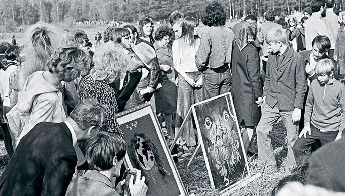 «Бульдозерная выставка», 1974 год