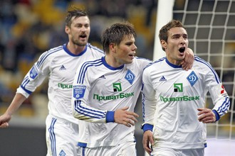 Марко Рубен (справа) забил первый гол в чемпионатах Украины