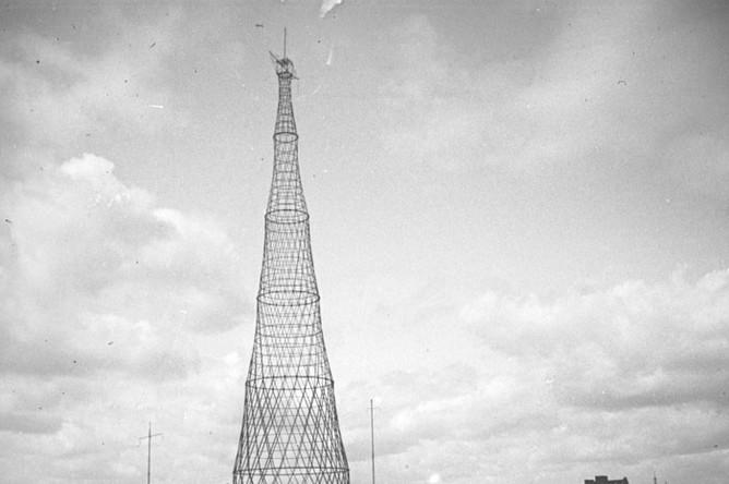 Шаболовская радиобашня 20-е годы