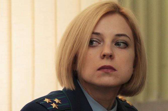Прокурор Республики Крым Наталья Поклонская на судебном заседании по уголовному делу одного из участников массовых волнений в Киеве в феврале 2014 года