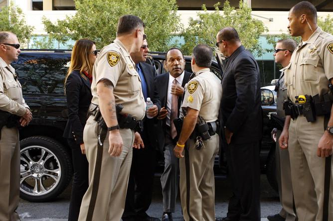 9 сентября 2008 года. О. Джей Симпсон перед судебным разбирательством в Лас-Вегасе