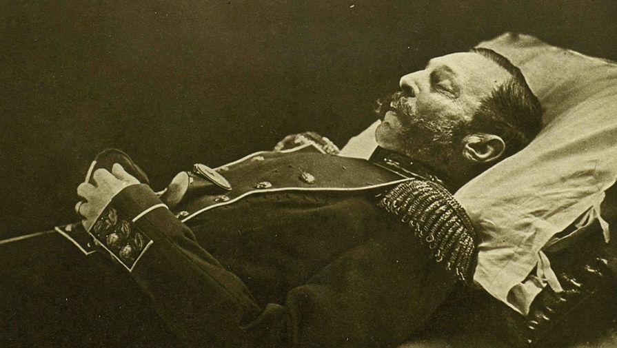 Император Александр II на смертном одре, 1881 год