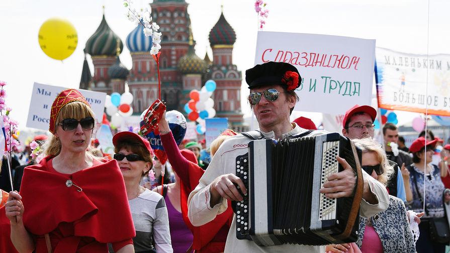 Картинки по запросу В Москве 130 тысяч человек вышли на первомайское шествие