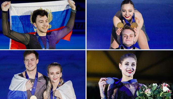 Этери Тутберидзе, Алена Косторная, Александра Трусова и Анна Щербакова