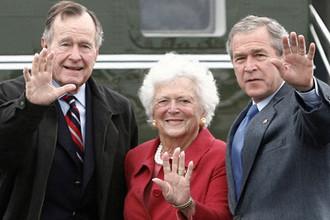 Джордж Буш-младший, Барбара Буш и Джордж Буш-старший, 2007 год