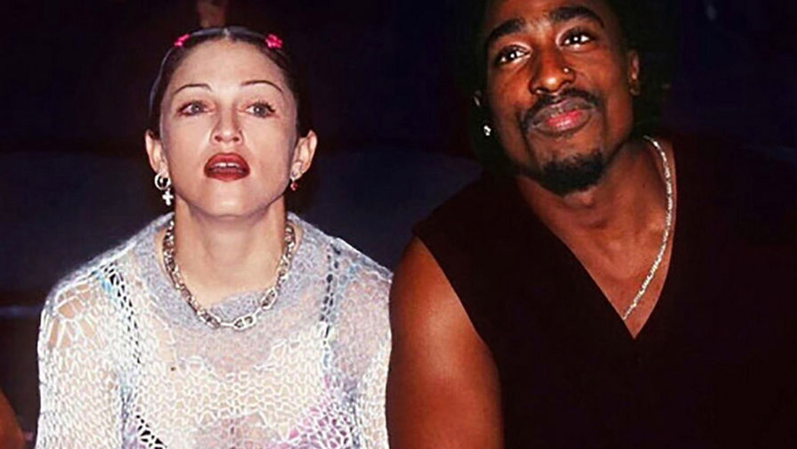 Мадонна и Тупак Шакур встречались тайно: долгое время тот факт, что у них был роман, никак не подтверждался. Лишь в 2015 году в радиопередаче Говарда Стерна SiriusXM Мадонна рассказала, что их познакомила актриса Рози Перес на вручении премии Soul Train Music. Письмо рэпера певице Мадонне, написанное им из тюрьмы, было выставлено на аукцион за 100 тысяч долларов в 2019 году. В нем Тупак предлагает Мадонне расстаться, поскольку имидж рэпера может пострадать из-за романа с белой женщиной. Мадонна и Тупак Шакур, 1994 год