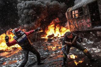 Ситуация в центре Киева, февраль 2014 года