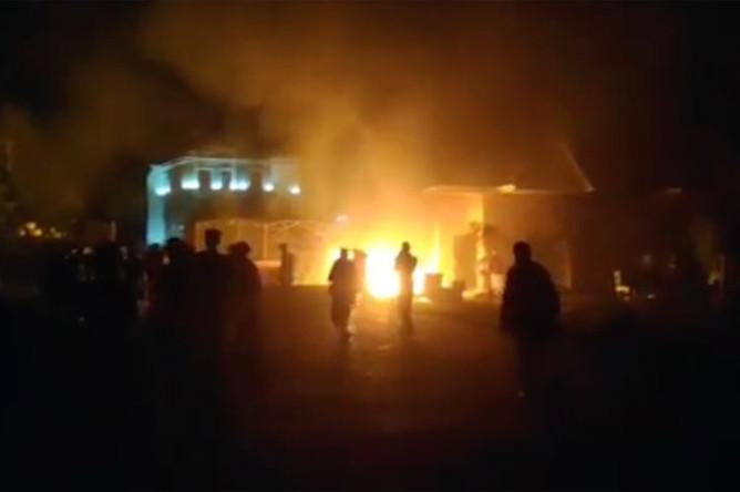 Во время штурма резиденции Алмазбека Атамбаева в Кой-Таше, 7 августа 2019 года