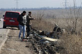 На месте подрыва автобуса у блокпоста «Новомихайловка» в Донецкой области