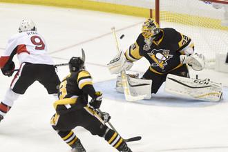 «Питтсбург» на своем льду уступил «Оттаве» в овертайме в рамках первого матча финальной серии плей-офф в Восточной конференции НХЛ
