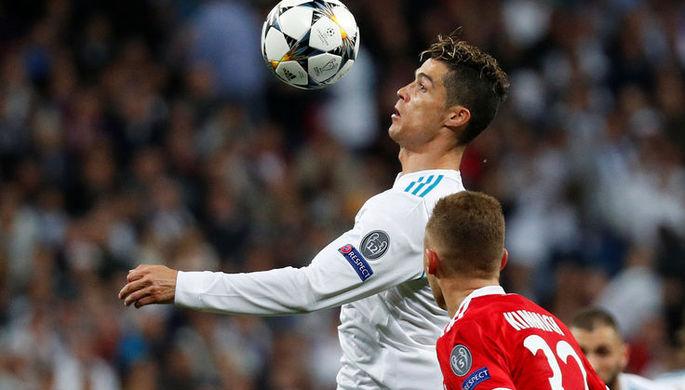 Криштиану Роналду в игре против «Баварии»