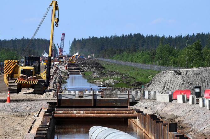 Участок строительства газопровода «Северный поток-2»